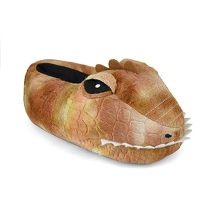 Childrens Dinosaur Head Slipper FT1232BN Brown