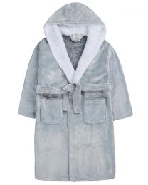 Kids Grey Frosted Dressing Gown