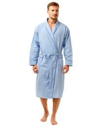 Haigman Poly/Cotton Dressing Gown - Pale Blue