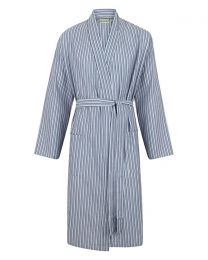 Walker Reid Cotton Stripe Wrap - Blue