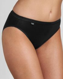 Sloggi 4 Pack Basic+ Tai Brief - Black