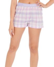 Forever Dreaming Woven Check Pyjama Shorts - Lilac