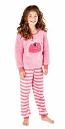 Girls Masq Monster Pyjamas KN212 Pink