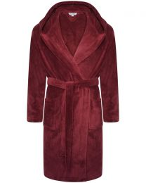 Loungeable Fleece Dressing Gown - Burgundy
