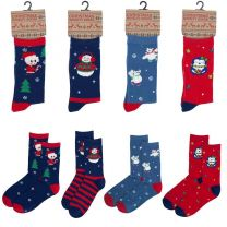 6 Pairs Womens Cotton Rich Novelty Xmas Fun Socks SK254 Size 4-7
