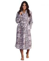 Loungeable Snake Print Dressing Gown