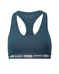 Puma Iconic Racer Back Sports Bra - Dark Denim