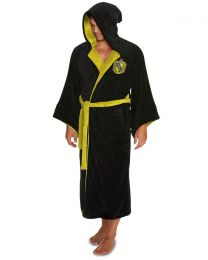 Mens Harry Potter Hufflepuff Fleece Bathrobe