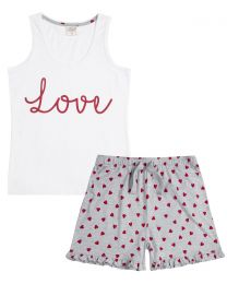 Forever Dreaming Love Heart Print Pyjamas