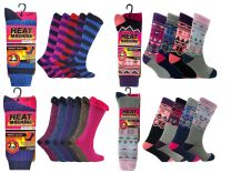 Ladies 2.3 Tog Thick Thermal Winter Fleece Knitted Socks