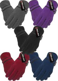 Adults Mens Ladies Thermal Lined Fleece Gloves