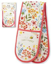 Cooksmart Bee Happy Double Oven Glove