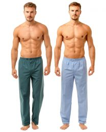 Haigman 2 Pack Pyjama Bottoms - Pale Blue/Teal