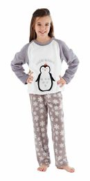 Girls Selena Girl Penguin Pyjamas KN145 Grey