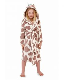 Nifty Kids Brown Cow Dressing Gown