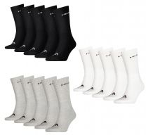 5 Pairs Unisex Head Cotton Blend Crew Sports Socks