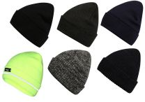 Mens Pro Climate Genuine Thinsulate Knitted Beanie Hat Plain, Hi Vis Yellow or Marl