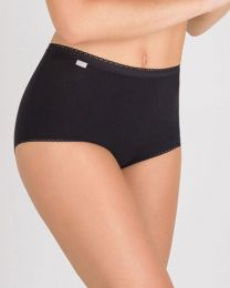 Playtex 6 Pack Cotton Maxi Brief - Black