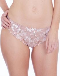 Lepel Fiore Lace Thong - Rose Gold/Ivory