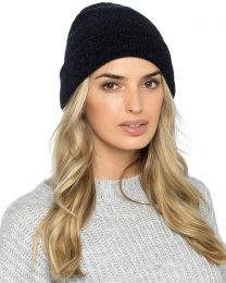Foxbury Thermal Lined Chenille Hat - Black