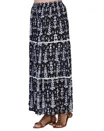 Pistachio Tribal Print Maxi Skirt - Black
