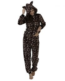 Loungeable Leopard Fleece Pyjamas
