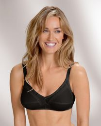 Naturana 100% Cotton Everyday Bra - Black