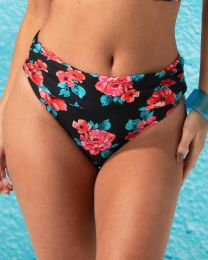 Pour Moi Reef Foldover Brief - Black/Red