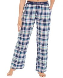 Forever Dreaming Woven Check Lounge Pants - Navy