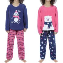 Girls Selena Girl Penguin OR Polar bear Pyjamas KN129