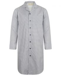 Walker Reid Cotton Geo Print Nightshirt - Blue