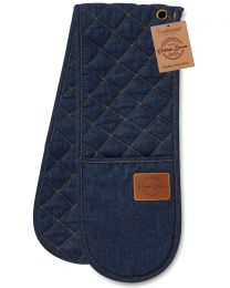 Cooksmart Oxford Denim Double Oven Glove