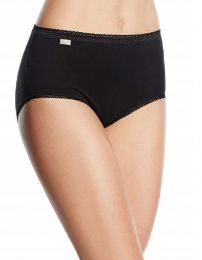 Playtex 2 Pack Cotton Midi Briefs - Black
