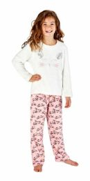 Girls Selena Girl Cat Pyjamas KN199 Pink or White