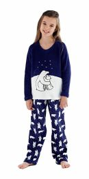 Girls Selena Girl Polar Bear Pyjamas KN145 Navy