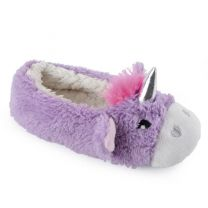 Childrens Unicorn Ballet Slipper FT1333 Cream OR Purple