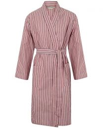 Walker Reid Cotton Stripe Wrap - Red