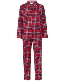 Walker Reid Cotton Check Tailored Pyjamas - Red