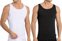 2 Pack Mens Sloggi Natural Cotton 24/7 SH 02 Vest Black or White Small-2XL