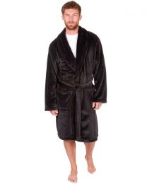 Sleepy Joes Shawl Collar Robe - Black