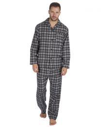 Pierre Roche Flannel Check Pyjamas - Grey