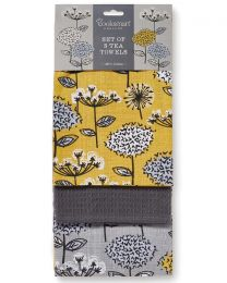 Cooksmart 3 Pack Retro Meadow Tea Towels