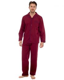 Sleepy Joes Polycotton Long Pyjamas - Burgundy