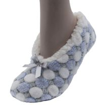 Foxbury Sherpa Lined Slippers SK459 Blue/White OR Mint/White