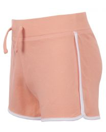 Girls Jersey Cotton Shorts - Coral