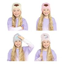 Girls Unicorn/Heart Beanie Hat with Reversible Sequins