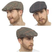 Mens Undercover Checked Wool Mix Flat Cap