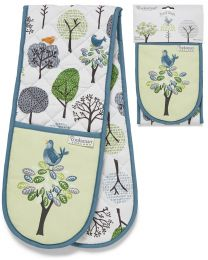 Cooksmart Forest Birds Double Oven Glove