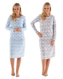 Ladies Undercover Winter Fleece Pattern Nightdress