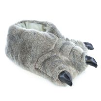 Childrens Monster Feet Slipper FT0561 Brown OR Grey